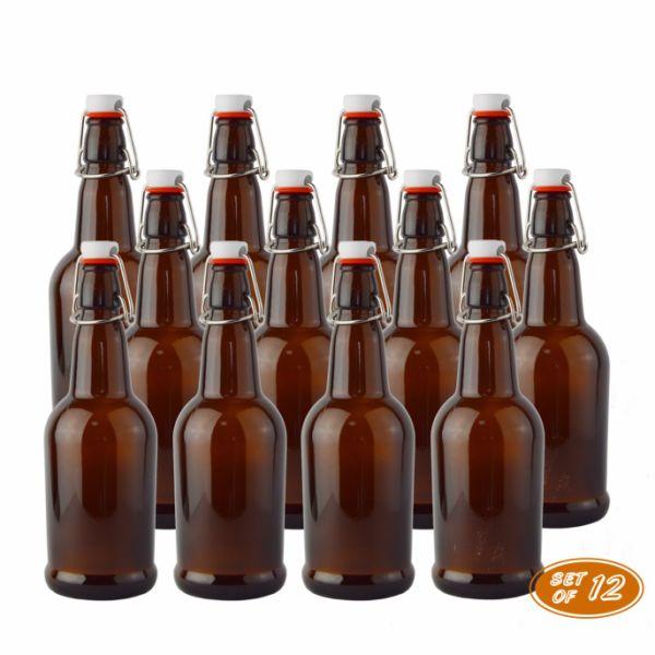 Shop For Swing Top Glass Bottle 16oz Easy Cap Beer Bottle Kombucha