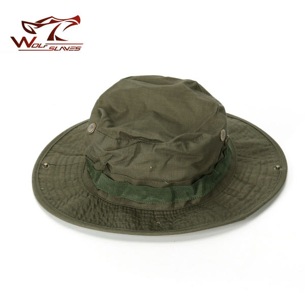 c3b09c5292f40 Military Boonie Hat Airsoft Sniper Camouflage Tactical Caps Wide Brim  Bucket Camping Hunting Fishing Hat Fishing
