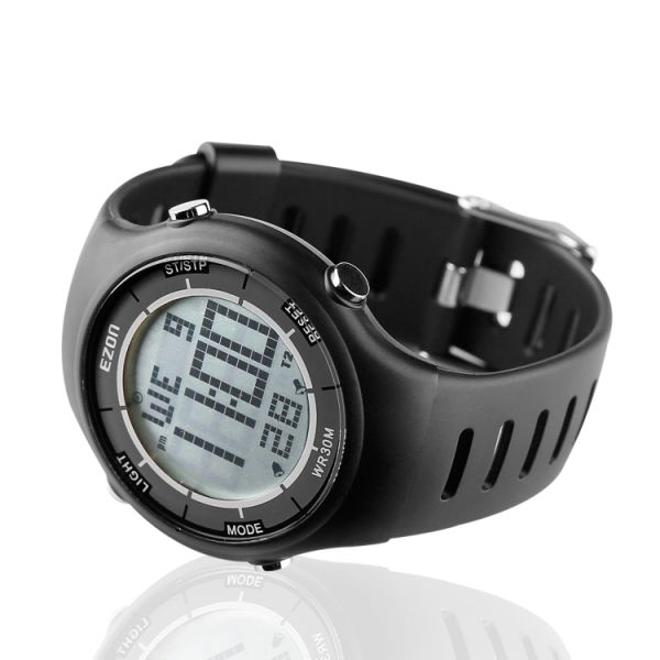 EZON Digital Watch Heart Rate Monitor Watch with Alarm Hourly Chime  Stopwatch, HRM Tech Chest Strap Large Display Black Sport Pulse Watch for  Men and