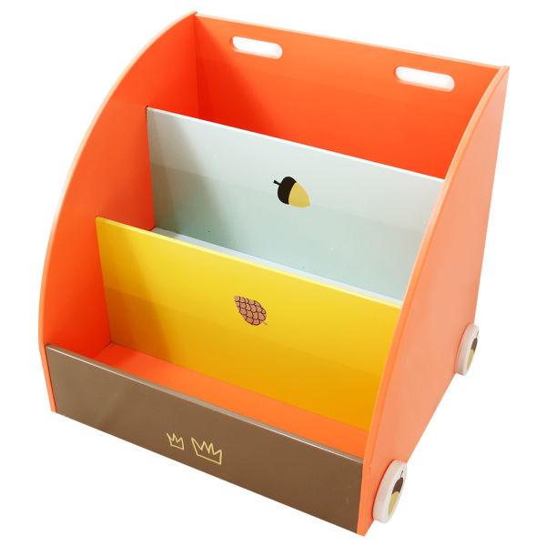 Labebe Kid Furniture Baby Bookshelf Orange Pine 2 In 1 Use As Walker