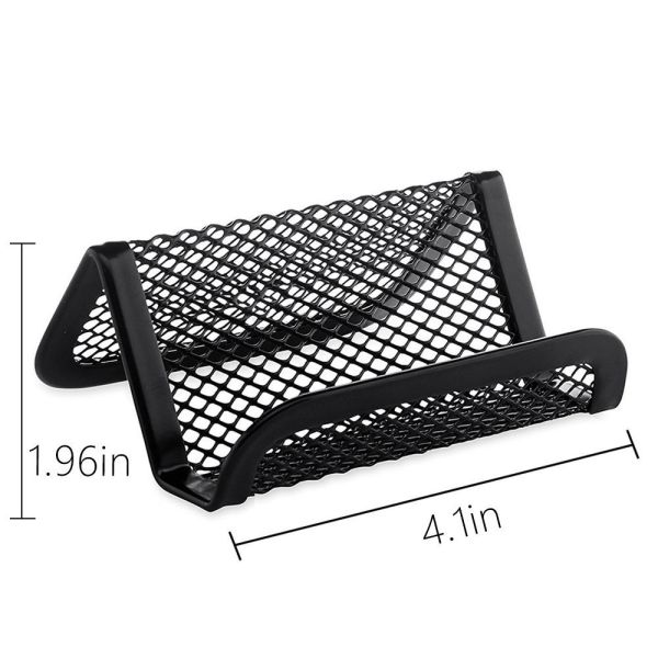 Easepres 6 Pieces Metal Business Card Holder Desk Office Stand Mesh Collection Organizer For