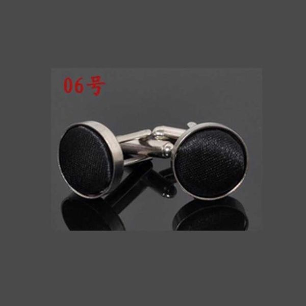 18 Colors Fashion Jewelry Shirt Cufflinks for Mens Brand Cuff Buttons High Quality 18 Colors Cuff Links, 6