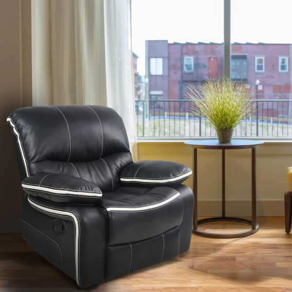 Peachy Qwork Ergonomic Reclining Sofa Chair Fabric Recliner Chair Single Recliner Armchair 1 Unit Box Dailytribune Chair Design For Home Dailytribuneorg