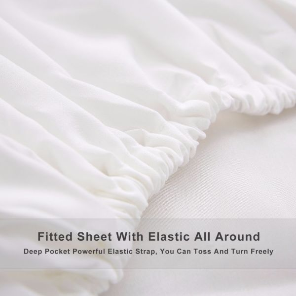 Zogolomo Hotel Bed Sheet Set King 200 Thread Count 100 Brushed Microfiber Extra Soft