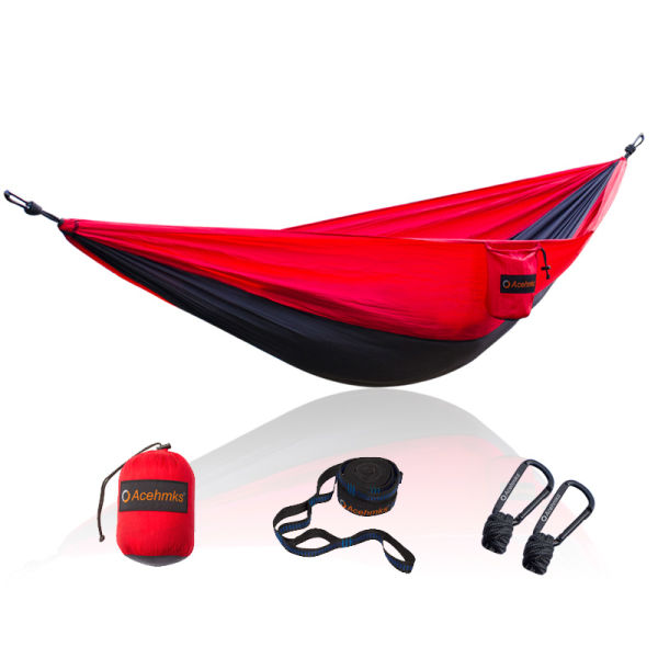 2f13809af2 Camping Hammocks Ultralight Portable Ripstop 210T 70D Nylon hammock With 2  Carabiners Hammock Tree Straps 300CMX2PCS 3 Pieces / Package