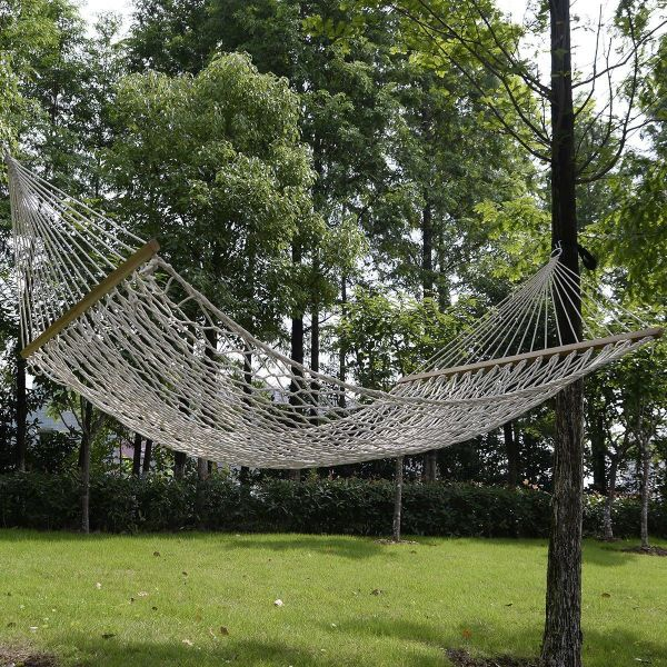Shop For 78 X 59 Double Hammock Comfortable White Cotton Rope Swing