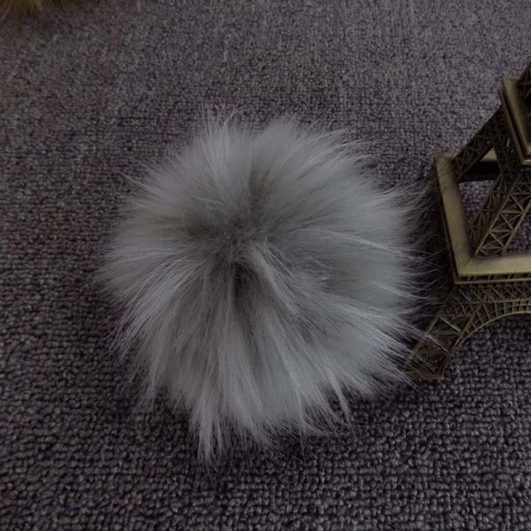 Faux Raccoon Fur Ball Key Chain for Decoration Racoon Black