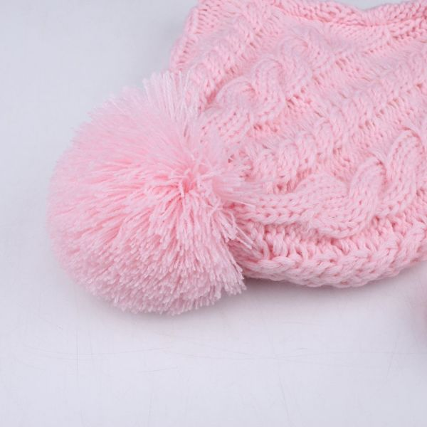 c4736fd8b94 Kids Winter Hat and Scarf Set for Baby Girls Boys Toddler Knit Beanie Hat  Yarn Pom