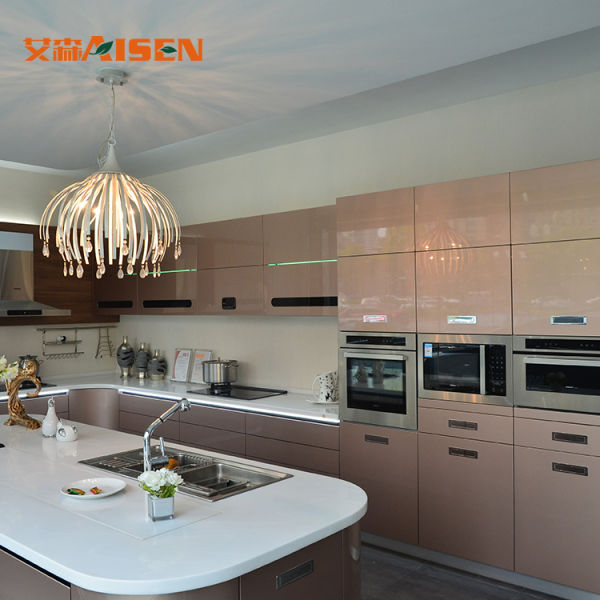 Sample Avaliable Wholesale Price Factory Direct Lacquer Kitchen Cabinet 1  Set / Pallet