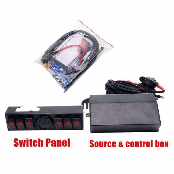 Control Box 6 Switch Electronic Relay System Module Digital Voltmeter 09-17 JK