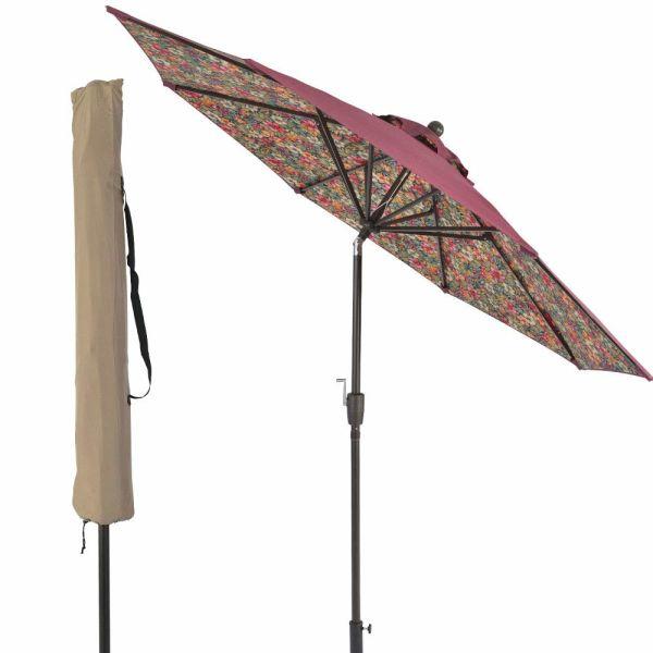 For 9 Ft Outdoor Umbrella Patio
