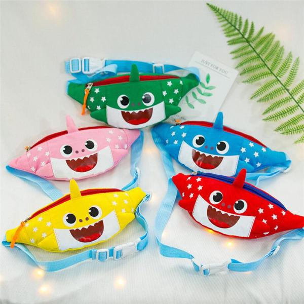b9354ef95f8a Baby Shark Cute Cartoon Waist Bag Boys Girls One Shoulder Bag Kindergarten  Canvas Chest Bag Kids Fanny Packs Zipper Mini Coin Purse A326010 1 Piece /  ...