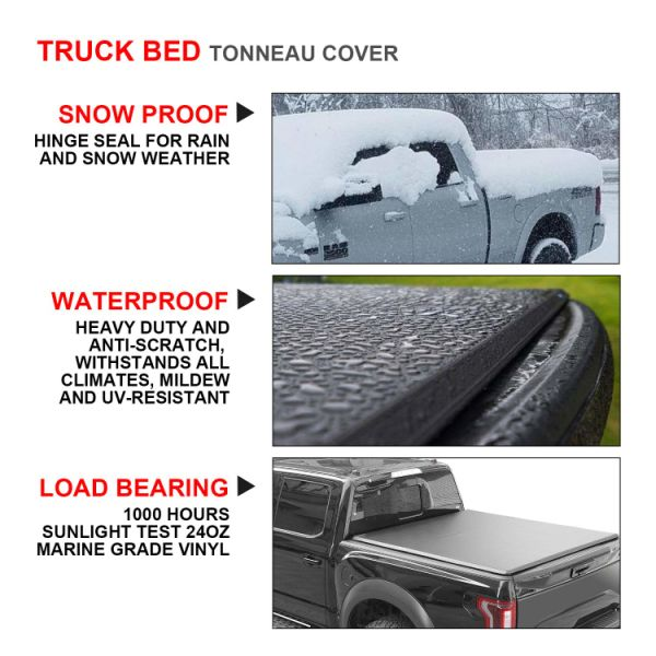 Tonneau Cover Soft Tri Fold For Ford F150 Pickup Truck 6 5ft Bed New Rainbowlands Lk