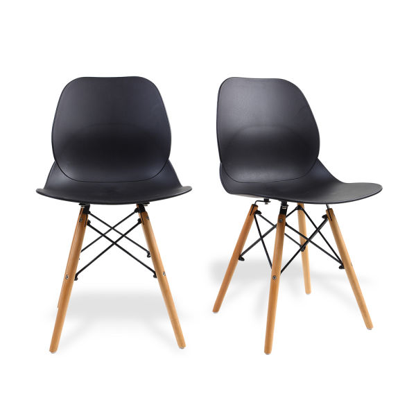 Shop For Set Of 2 Eames Dining Dsw Style Chairs By Santang 18