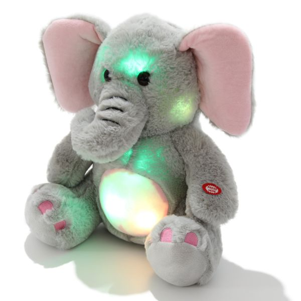 Shop For Dropshipping 13inch Stuffed Animals Gray Elephant Led Night