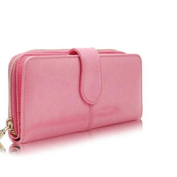 0b96710312e8 Fashion Women's fold Leather Wallet Zipper Ladies Clutch Purse 1 Piece / Box