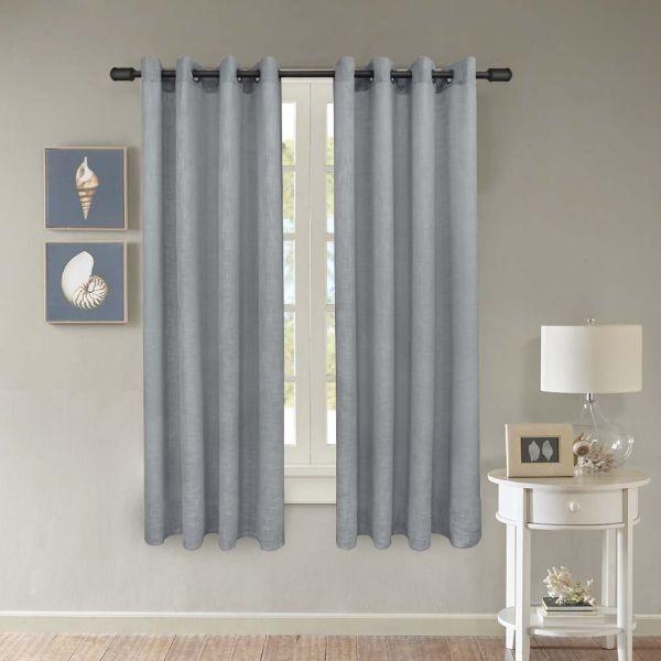 Shop For Fy Fiber House Luxurious Faux Linen Woven Sheer Curtains