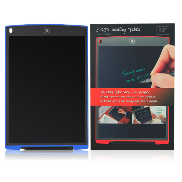 Writing Tablet 12inch Electronic LCD Hand Writing Board/blackboard with Pen and Mouse Mat and Rular Function (blue)