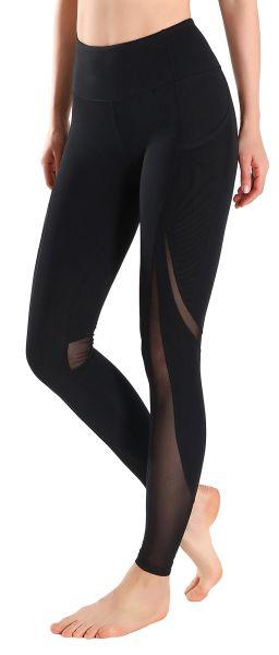 ec7be91d676ace MotoRun Women's Active Capri Legging Mesh Insert Workout Leggings Yoga  Tights