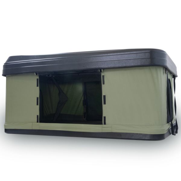 Trustmade Black Hard Shell Green Rooftop Tent 2mins Setup 100% Waterproof 50mm Mattress Pick Up Available