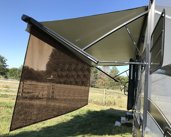 RV Awning Shade Motorhome Awning Screen Kit 8x20 Brown