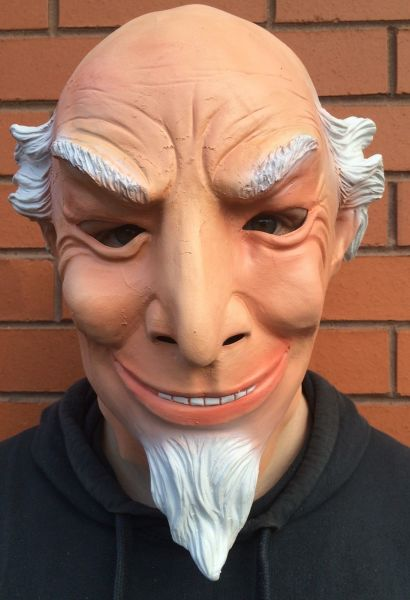 00c5fecee3 Old Man Head Latex Mask White Beard Full Head Grandpa Party Mask Halloween  Carnival Fancy Costume