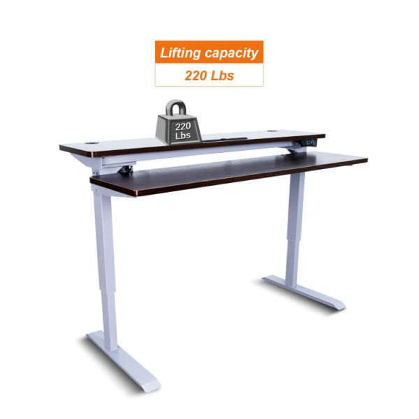 Superb Aiterminal Split Top Electric Stand Up Desk Single Motor Height Adjustable Desk 59 Grey Frame Walnut Top 1 Unit Box Download Free Architecture Designs Licukmadebymaigaardcom