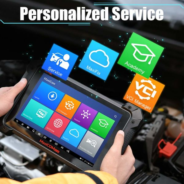 Autel Mk908p Diagnostic Scanner (Ms908p Maxisys PRO Upgraded) J2534 ECU  Programming, Coding, Bi-Directional Control, Complete Systems Diagnoses  With 1