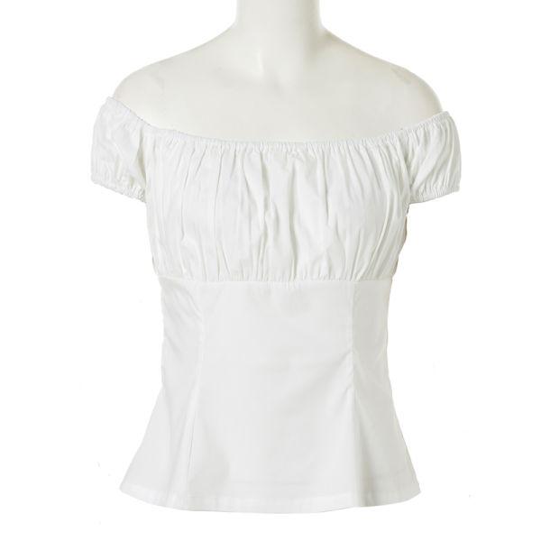 d9ce04398e2 Plus Size Women New Fashion Sexy Cotton White Shirt Off The Shoulder  TP204W-S