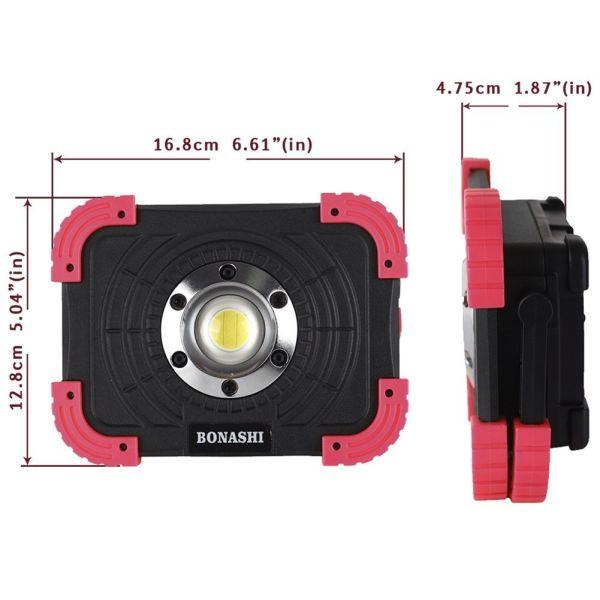 Led Garage Work Lights: Shop For BONASHI 15W Portable LED Work Light, Rechargeable