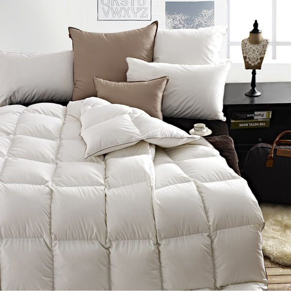 shop for snowman white goose down comforter twin size 100 cotton shell down proof solid white. Black Bedroom Furniture Sets. Home Design Ideas