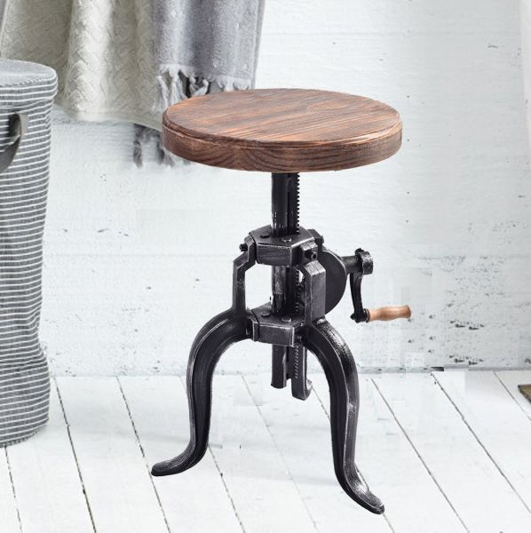 Shop For American Antique Industrial Crank Stool Cast Iron