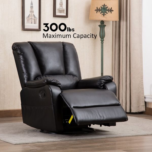 Shop For Canmov Breathable Bonded Leather Swivel Rocker