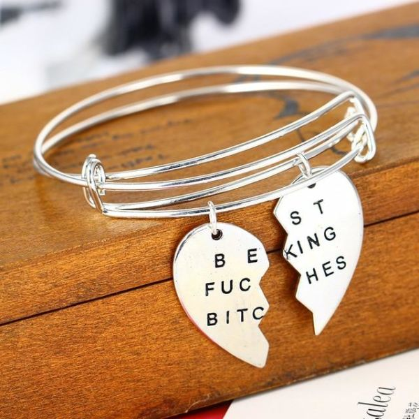 Family Women Charm Bracelet Jewelry Heart Horse Mom Daughter Always Sister Sis Best Friends Bff Pendant Fit Brand 4 1 Piece Box