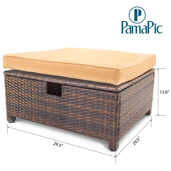 Brown Rattan Coffee Table Outdoor: Shop For Pamapic 6PCS Outdoor Patio Furniture Set Rattan