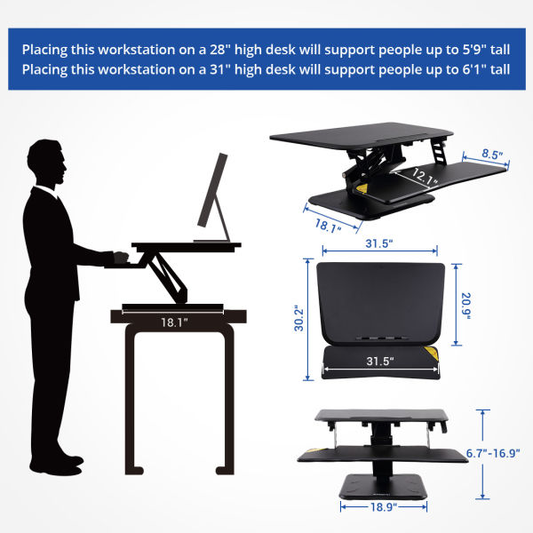 Shop For Flexispot 32 Quot Standing Desk Converter Height