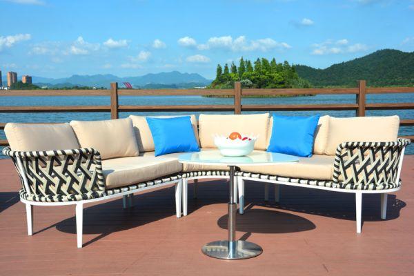 Rope Patio Furniture.Moda Rope Patio Sofa Cushion Seat Set Furniture Lawn Outdoor 4 Pieces Carton