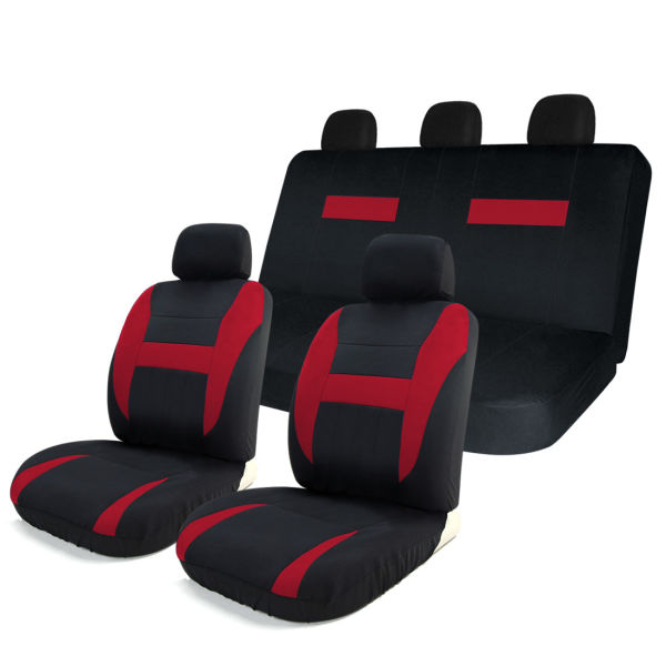 Shop For 8pcs Car Seat Covers Set Black Red Universal Fit Airbag