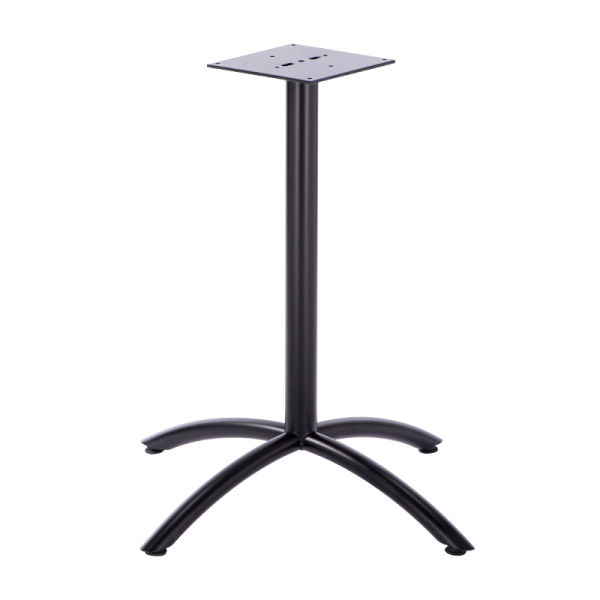 Curved Metal Table Legs Steady Cast Iron Base Furniture Leg Center 3 Pieces Carton