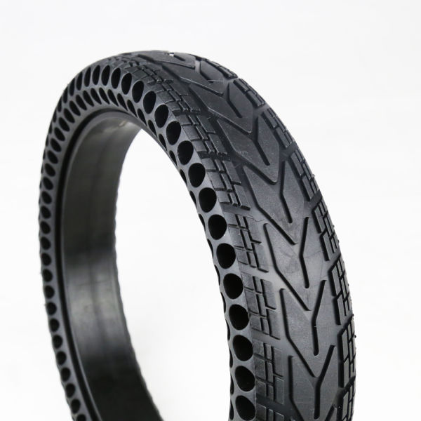 "12"" Electric Airless Wheelchair Tires With Plastic Wheels"