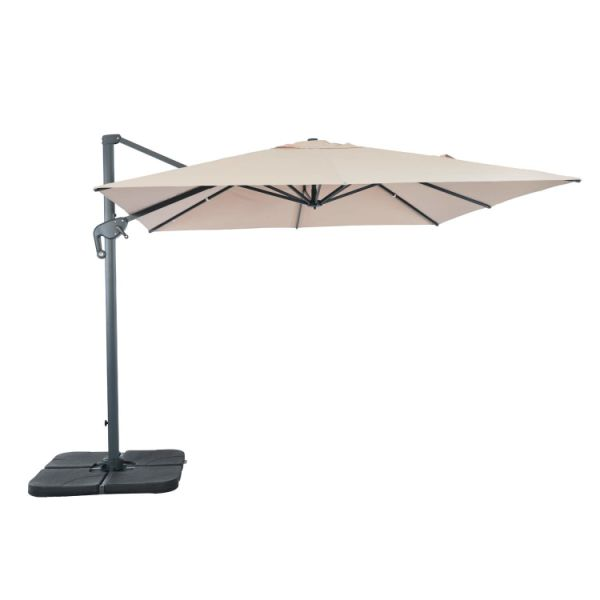 Suna Outdoor Patio Umbrella Square Offset Cantilever 10 X Feet