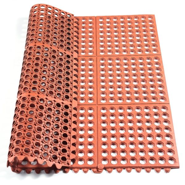 Interlock Rubber Mat Large Kitchen Mat Matting for Senior Hotel Kitchen, Bath, Workshop, and Other Area 3'×3'×1/2""