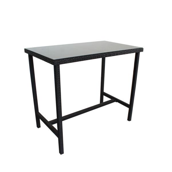 6e9366e20f3b Patio Table Rattan Bar Tables High Leg Bar Table Large Match Bar Stools Outdoor  Garden Dining