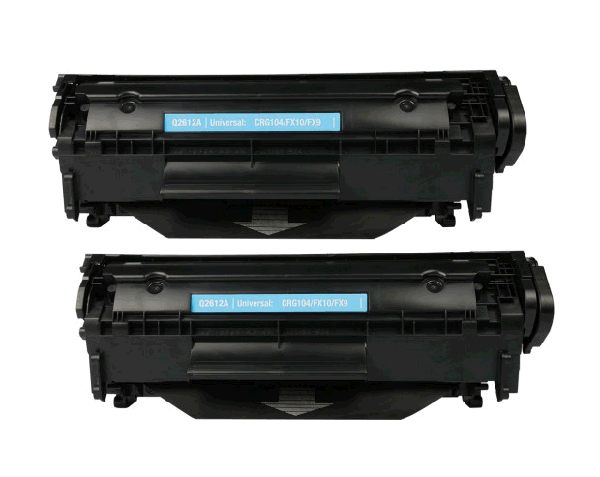 2 Pack HP Q2612A/FX9/C104 Compatible Toner Cartridge 2 Sets / Box
