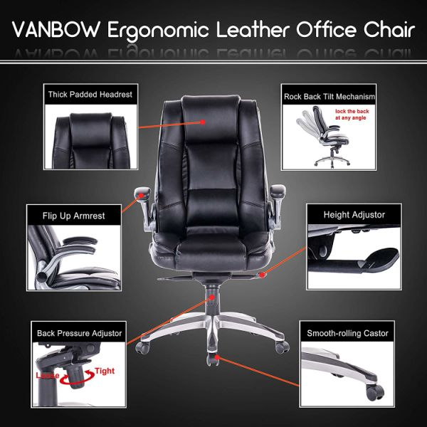 Shop For Vanbow High Back Memory Foam Leather Office Chair