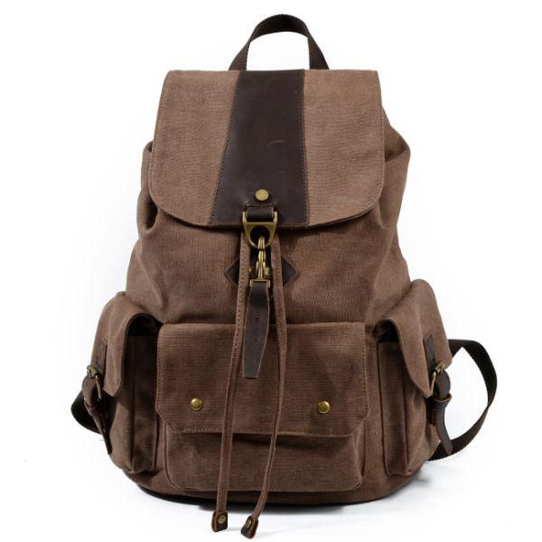 f14d4ca2f REDSWAN Vintage Canvas Backpack Casual Shoulder Bag Large Capacity Rucksack  for Men and Women