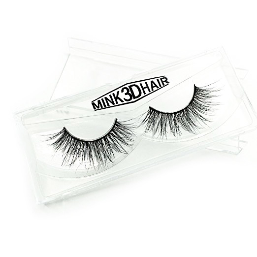 Googoo 3D Mink Fur Fake Eyelashes 100% Siberian Mink Fur Hand-made False Lashes of 1 Pair Package