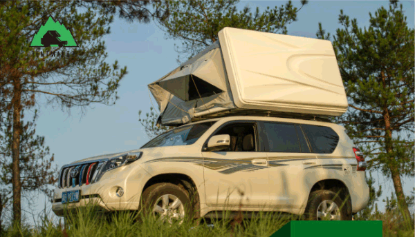 Auto Hard Shell Car Roof Top Tent Family Tent for 4 People 1 Piece / Carton