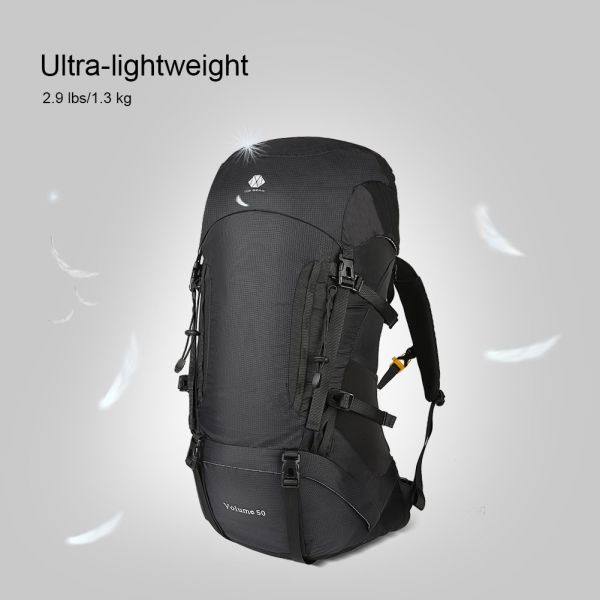 33681353e0f6 50L Hiking Backpack For Men and Women Lightweight and Waterproof With  Internal Frame Large Ultralight Travel Outdoor Sport Camping Breathable Bag  With ...