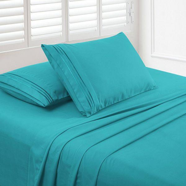 Shop For Upland 4pc King Size Bed Sheet Set Soft Brushed